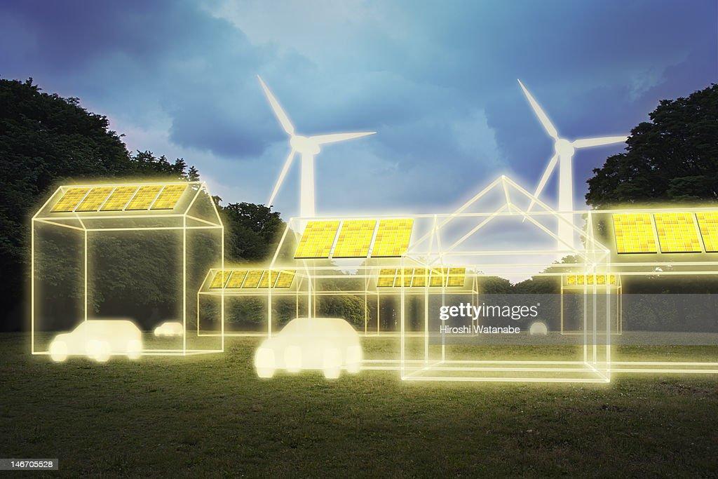 Image of smart house : Stock Photo