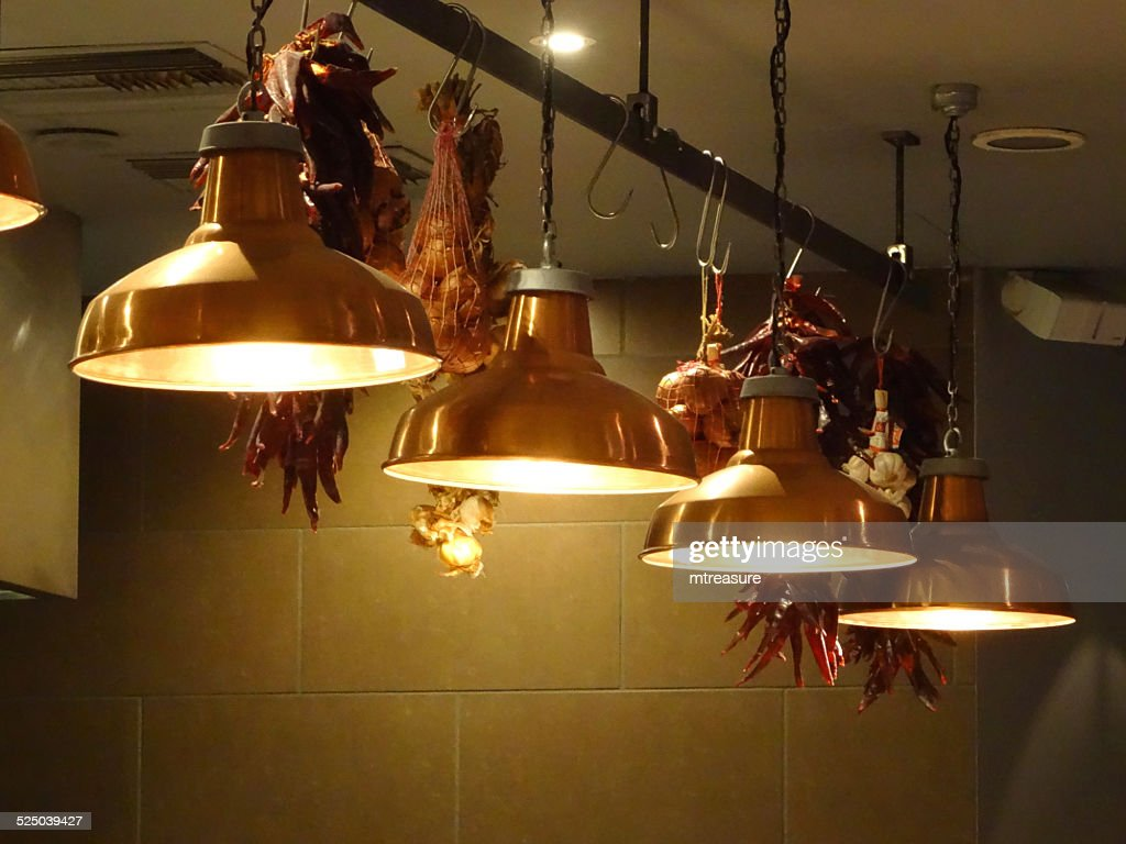 copper kitchen lighting. simple kitchen image of stylish hanging copper kitchen lamps  lights in row  stock photo in copper kitchen lighting h