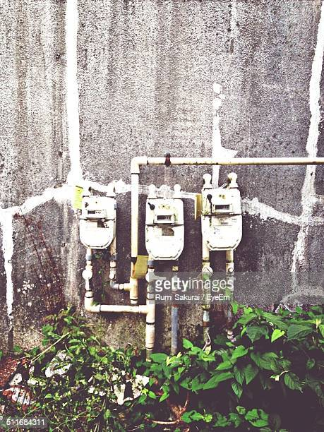 Image of water meter on wall