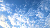 Image of white cloud pattern on blue sky background with copy space,nature background concept,blurred background