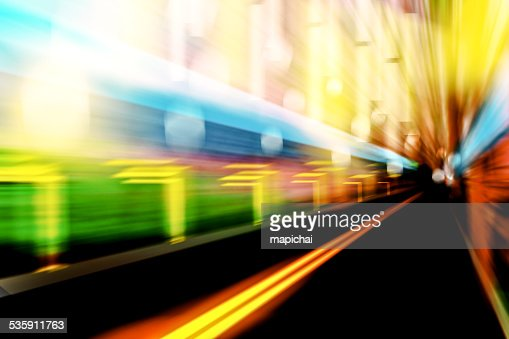 Image speed in the city : Stock Photo