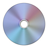 digital image of a CD or DVD data track