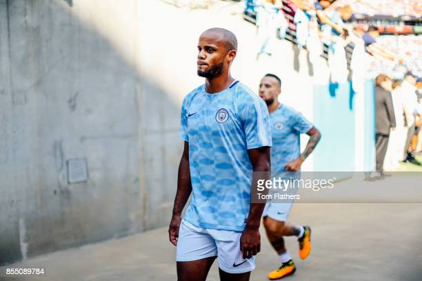 Image was altered with digital filters Manchester City's Vincent Kompany prior to the match at Nissan Stadium on July 29 2017 in Nashville Tennessee