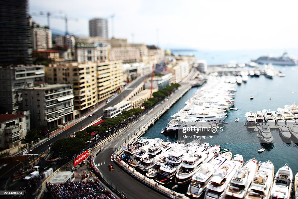 Image was created using a variable planed lens. <a gi-track='captionPersonalityLinkClicked' href=/galleries/search?phrase=Max+Verstappen&family=editorial&specificpeople=12813205 ng-click='$event.stopPropagation()'>Max Verstappen</a> of the Netherlands driving the (33) Red Bull Racing Red Bull-TAG Heuer RB12 TAG Heuer on track during practice for the Monaco Formula One Grand Prix at Circuit de Monaco on May 26, 2016 in Monte-Carlo, Monaco.