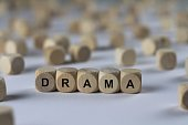 - DRAMA - image with words associated with the topic MOVIE, word, image, illustration
