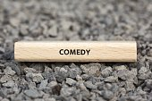 - COMEDY - image with words associated with the topic MOVIE, word, image, illustration