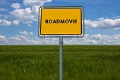 - ROADMOVIE - image with words associated with the topic MOVIE, word, image, illustration