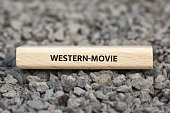 - WESTERN-MOVIE - image with words associated with the topic MOVIE, word, image, illustration