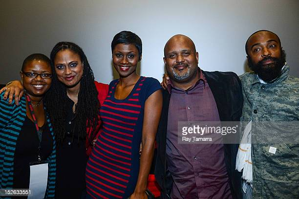 Imagenation founder Moikgantsi Kgama director Ava DuVernay actress Emayatzy Corinealdi producer Paul Garnes and cinematographer Bradford Young attend...