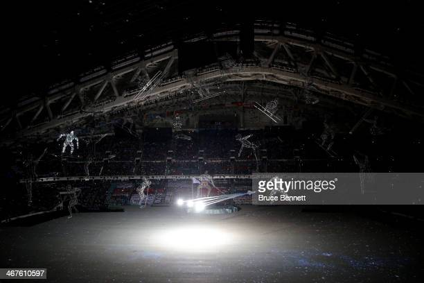 Images are projected in Olympic Gods during the Opening Ceremony of the Sochi 2014 Winter Olympics at Fisht Olympic Stadium on February 7 2014 in...