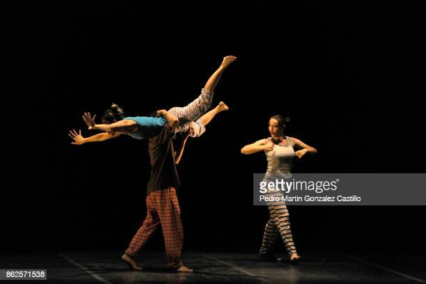 Images of a contemporary dance performance during the Cervantino International Festival on October 17 207 in Guanajuato Mexico