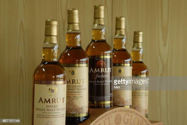 Images of Amrut whisky products and single Malt Amrut whiskys Distilleries at Mysore Road in Bangalore India