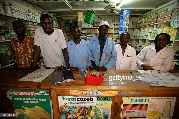 Images of local agrodealers in their stores providing seed and farming cornucopia to local farmers September 11 2007 in Bungoma Kenya