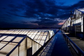 Images of Monsanto agribusiness greenhouses on top of a research building in St Louis Missouri 21 May 2009 Monsanto is at the forefront of...