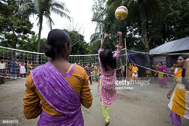 Images of rural girls who are the majority earners in their families and communities on August 8 2008 in rural Bangladesh India The Nike Foundation...