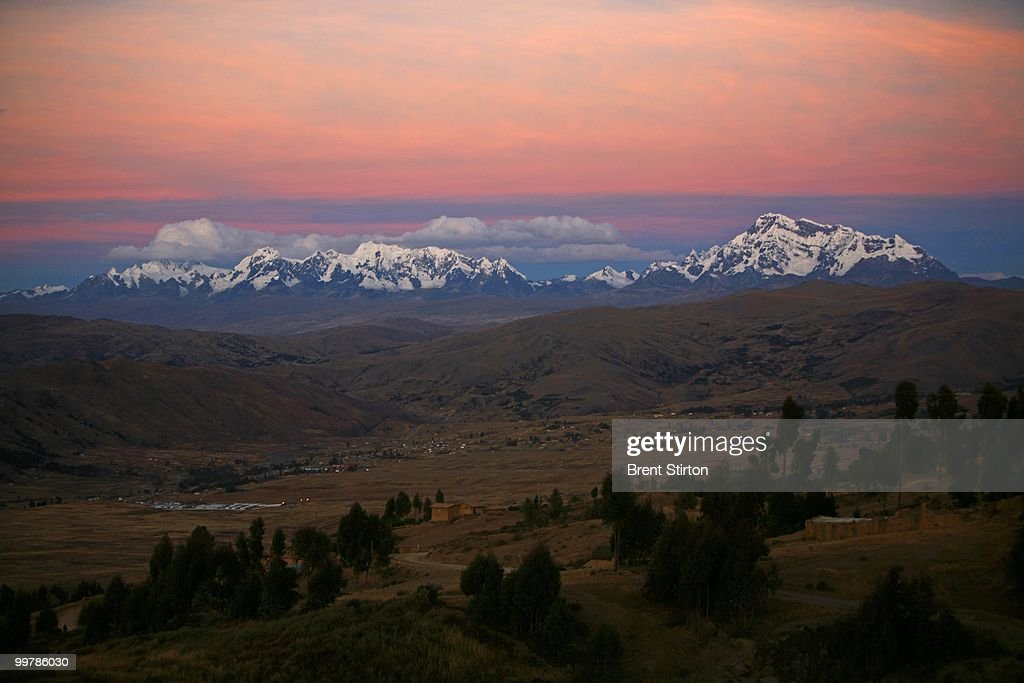 Images of the Andes along the route of the construction of the InterOceanica highway through the Andes from Cuzco into the Andes Cuzco Peru June 14...