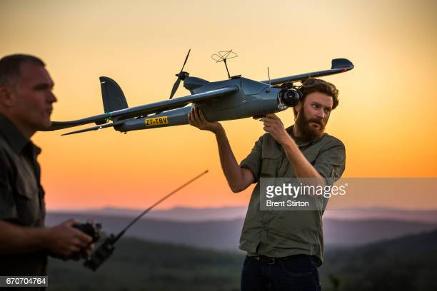 Images of the drone program run by Air Shepherd a foundation that seeks to assist in antipoaching through the use of drones The aircraft can fly an...