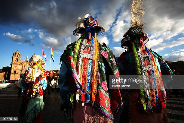 Images of the festivities leading up to the Inti Raymi festival in Cuzco Peru June 21 2007 The Inti Raymi festival is the most spectacular Andean...
