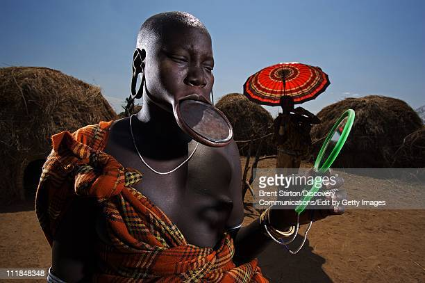 Images of the Mursi people on December 14 2007 in the Omo Valley South West Ethiopia
