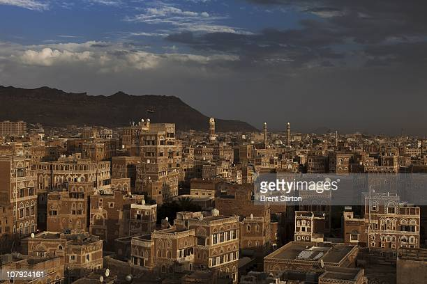 Images over the ancient old city within the heart of Sana'a the capital city of Yemen August 16 2010