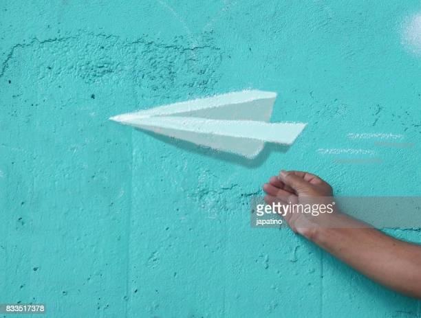Imaginary games. Paper plane