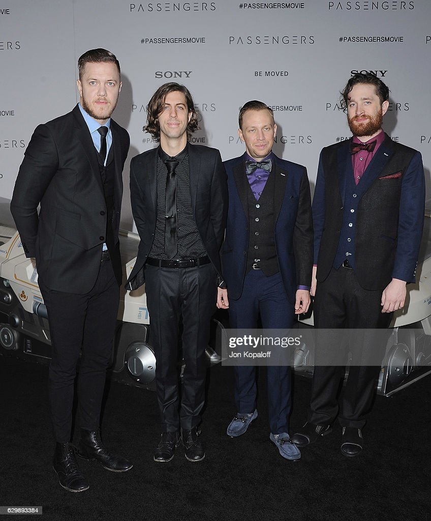 Imagine Dragons arrives at the Los Angeles Premiere 'Passengers' at Regency Village Theatre on December 14, 2016 in Westwood, California.