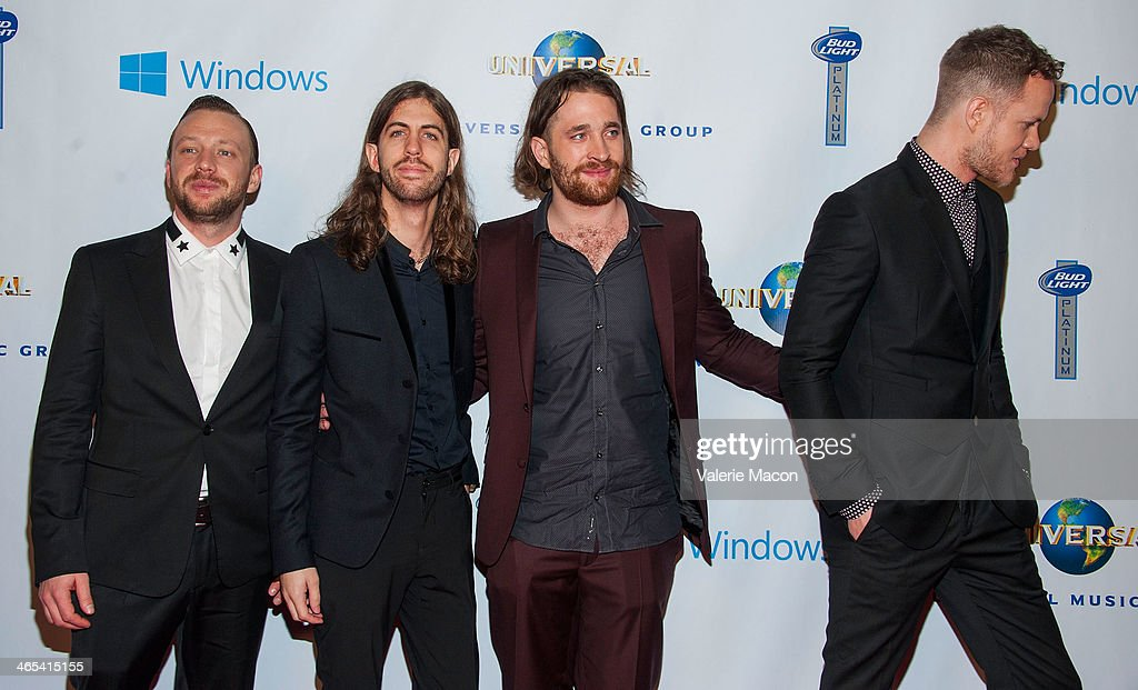 <a gi-track='captionPersonalityLinkClicked' href=/galleries/search?phrase=Imagine+Dragons&family=editorial&specificpeople=8995078 ng-click='$event.stopPropagation()'>Imagine Dragons</a> arrives at the Universal Music Group 2014 Post GRAMMY Party at The Ace Hotel Theater on January 26, 2014 in Los Angeles, California.