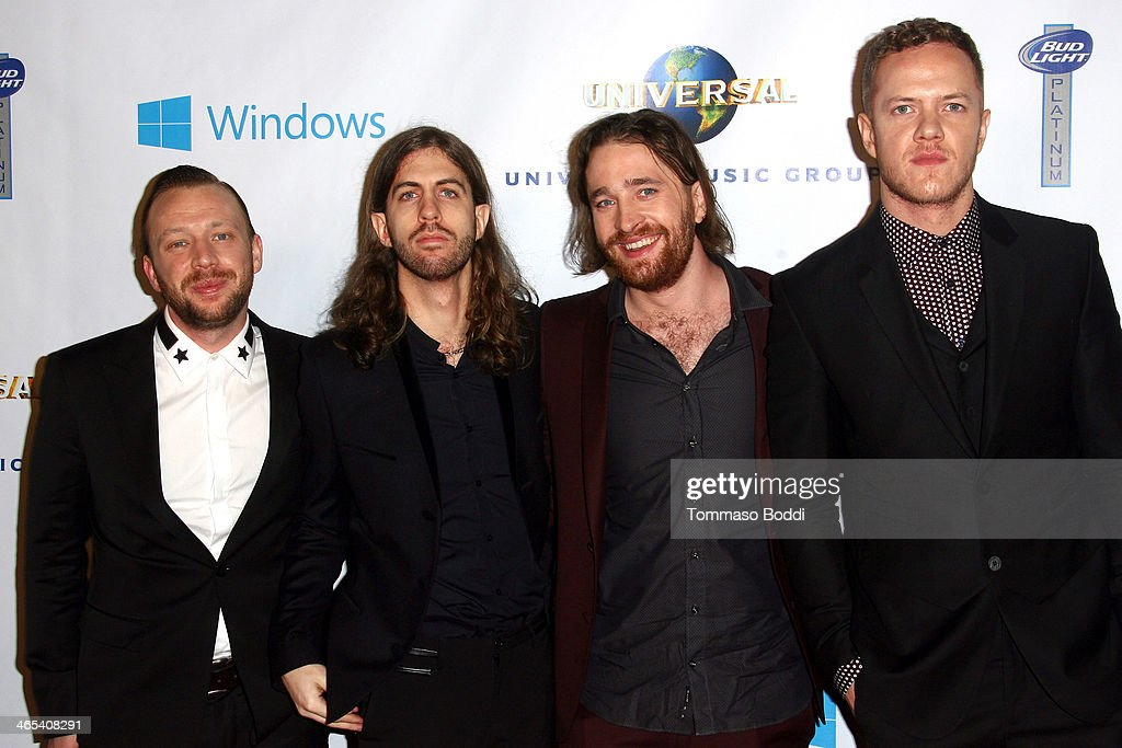 Imagine Dragons attend the Universal Music Group 2014 post GRAMMY party held at The Ace Hotel Theater on January 26, 2014 in Los Angeles, California.