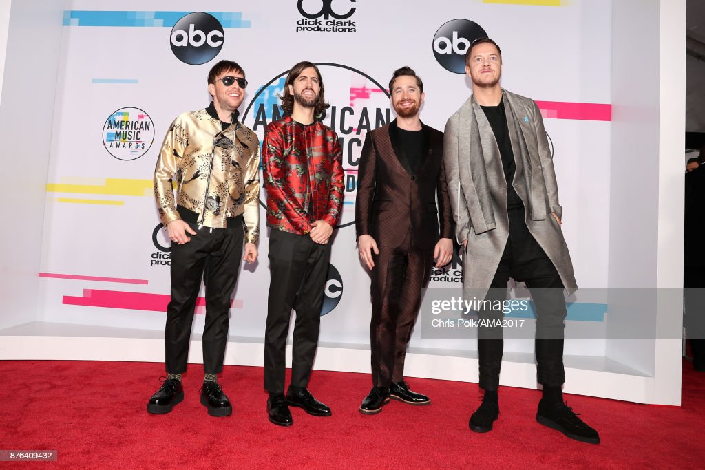 Imagine Dragons attends the 2017 American Music Awards at Microsoft Theater on November 19, 2017 in Los Angeles, California.