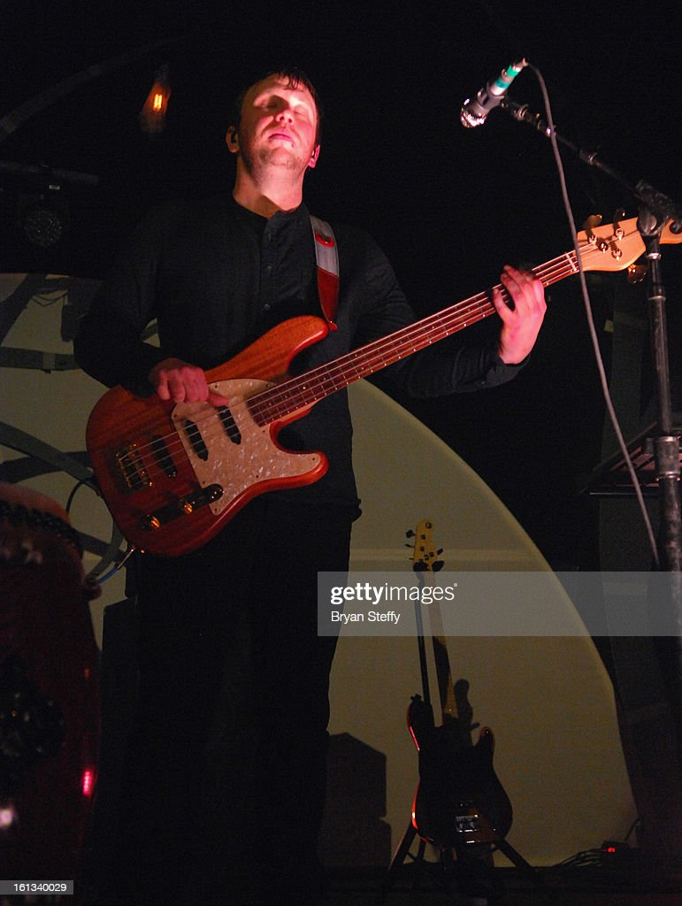 Imagine Dragons bassist Ben McKee performs at The Joint inside the Hard Rock Hotel & Casino as the band tours in support of the album 'Night Visions' on February 9, 2013 in Las Vegas, Nevada.