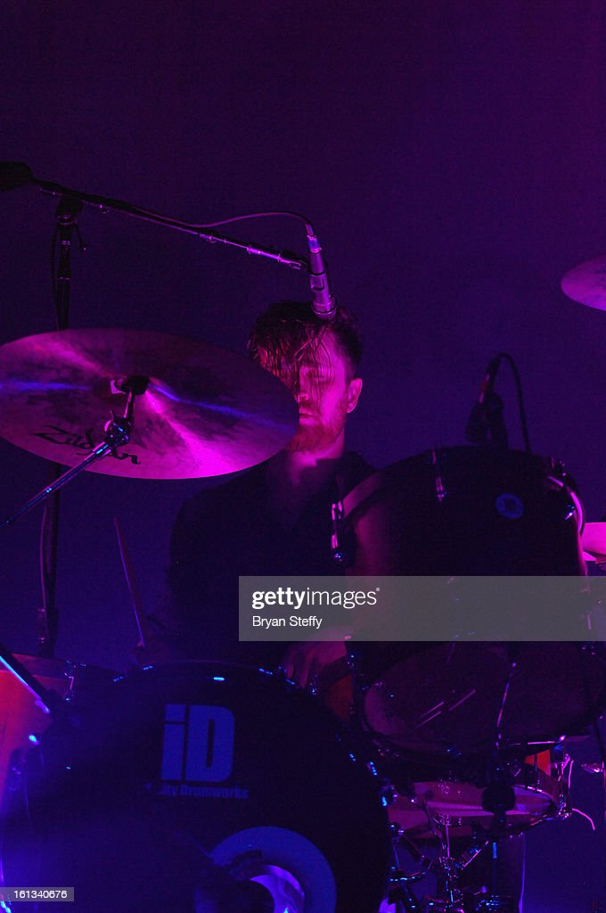 Imagine Dragons drummer Daniel Platzman performs at The Joint inside the Hard Rock Hotel & Casino as the band tours in support of the album 'Night Visions' on February 9, 2013 in Las Vegas, Nevada.
