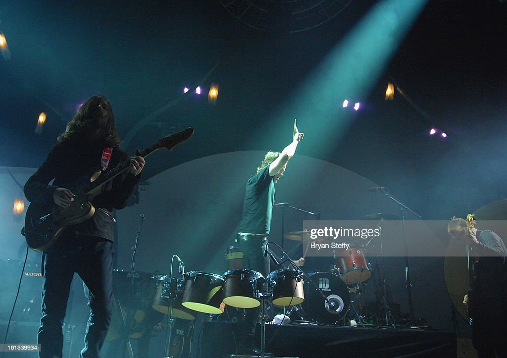 Imagine Dragons guitarist Wayne Sermon performs at The Joint inside the Hard Rock Hotel & Casino as the band tours in support of the album 'Night Visions' on February 9, 2013 in Las Vegas, Nevada.
