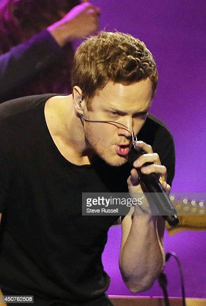 TORONTO ON JUNE 15 Imagine Dragons perform 'Demons 303' and 'Radioactive 429' at the Much Music Video Awards at MuchMusic on Queen Street West in...