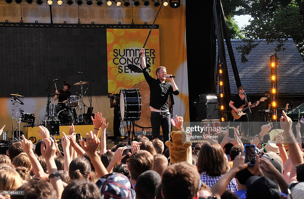Imagine Dragons perform on ABC's 'Good Morning America' at Rumsey Playfield on July 5, 2013 in New York City.