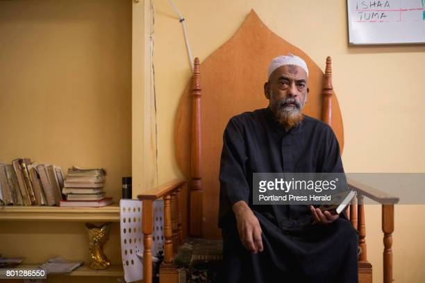Imam El Harith Mohamed poses for a portrait at his mosque in Portland The mosque received an antiMuslim hate letter from an anonymous person in the...