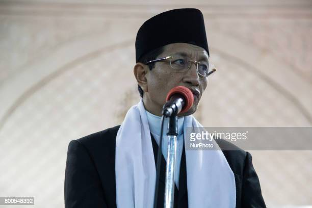 Imam NASARUDDIN UMAR celebrate Takbiran Night to celebrate the eid fitr that will held on 25 June 2017 opened by Istiqlal Mosque in Jakarta Indonesia...