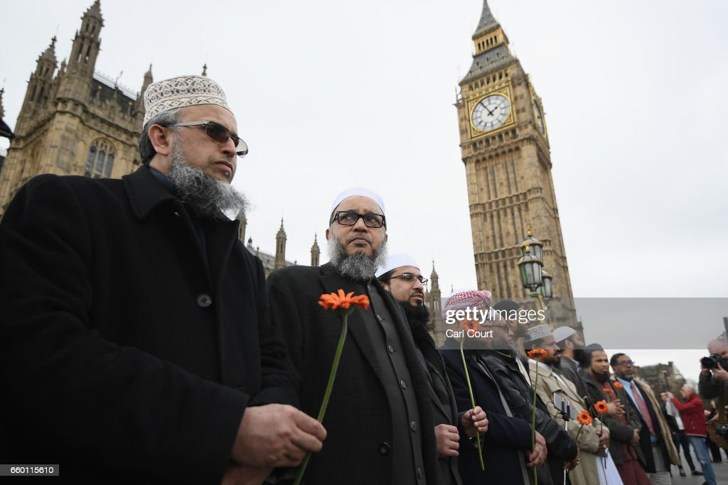 Faith Leaders Lead Vigil for Victims of Last Week's Westminster Terrorist Attack