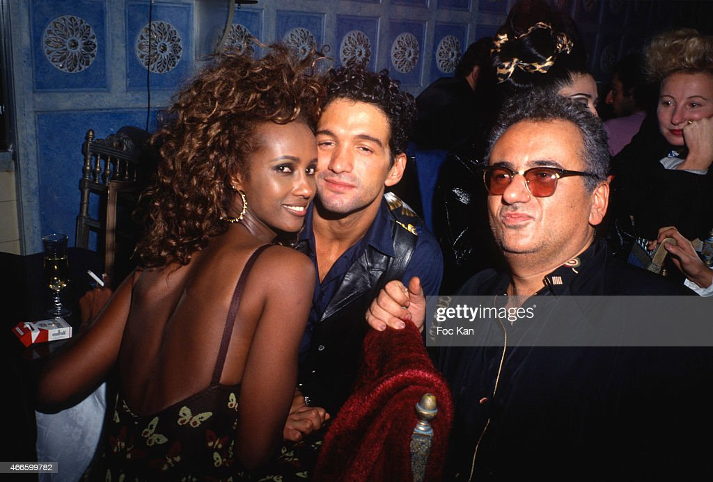 Iman a guest and hubert boukobza attend a fashion week for Les bains douches paris