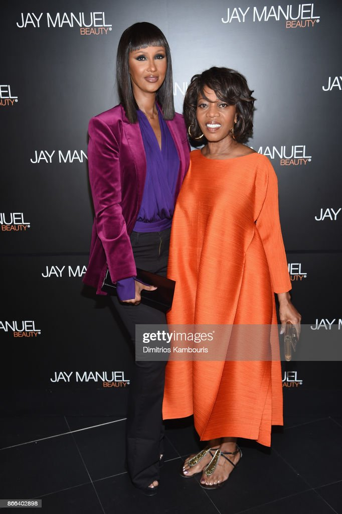 Iman Abdulmajid and Alfre Woodard attend the Jay Manuel Beauty x Simon Launch Event at Highline Stages on October 25, 2017 in New York City.