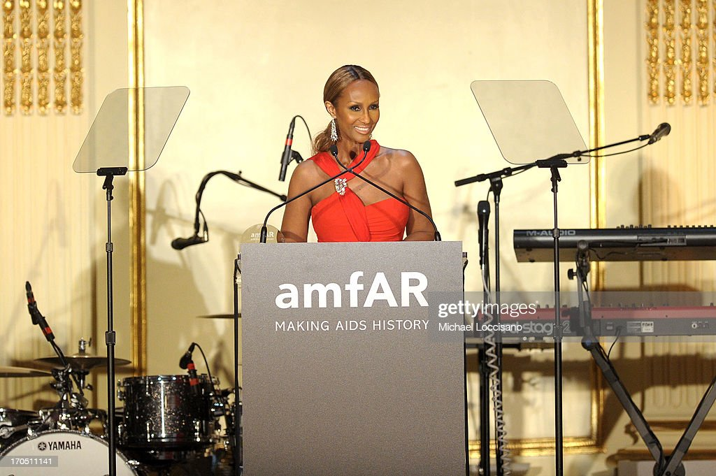 <a gi-track='captionPersonalityLinkClicked' href=/galleries/search?phrase=Iman+-+Fashion+Model&family=editorial&specificpeople=132463 ng-click='$event.stopPropagation()'>Iman</a> accepts the Award of Inspiration on behalf of Valentino Garavani (not pictured) during the 4th Annual amfAR Inspiration Gala New York at The Plaza Hotel on June 13, 2013 in New York City.