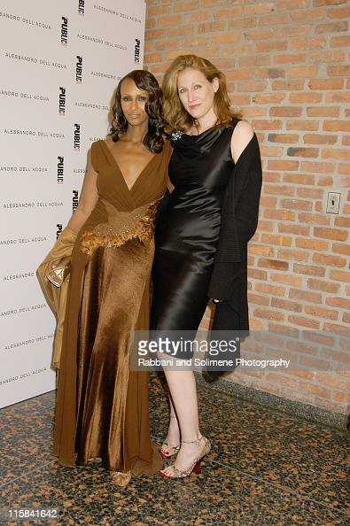 Iman and Amy Sacco during Alessandro Dell'Acqua Celebrates the Opening of his First US Flagship Store With Public Theater BashFashion on Stage at The...