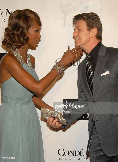 Iman and David Bowie at The 4th Annual 'Black Ball'Concert for 'Keep A Child Alive' Arrivals