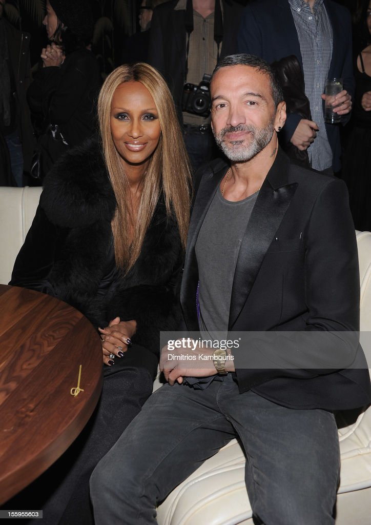 Iman and guest attend the after party for the Gato Negro Films & The Cinema Society screening of 'Hotel Noir' at No. 8 on November 9, 2012 in New York City.