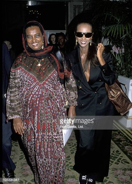 Iman and her mother Marion during RoehmDe La Renta Fashion Show at Plaza Hotel in New York City New York United States
