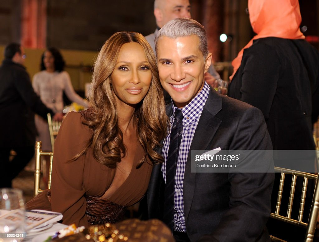 Iman and Jay Manuel attends Variety Power Of Women New York presented by FYI at Cipriani 42nd Street on April 25 2014 in New York City