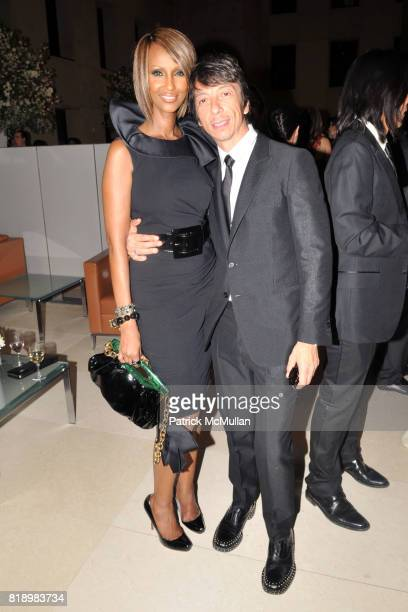 Iman and Pier Paolo Piccioli attend AMERICAN PATRONS of TATE Artists' Dinner at Hearst Tower on May 4th 2010 in New York City