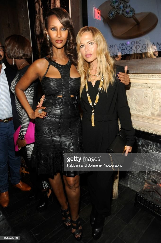 Iman and Rachel Zoe attends the Destination Iman Website Launch Party at Dream Downtown on September 7, 2012 in New York City.