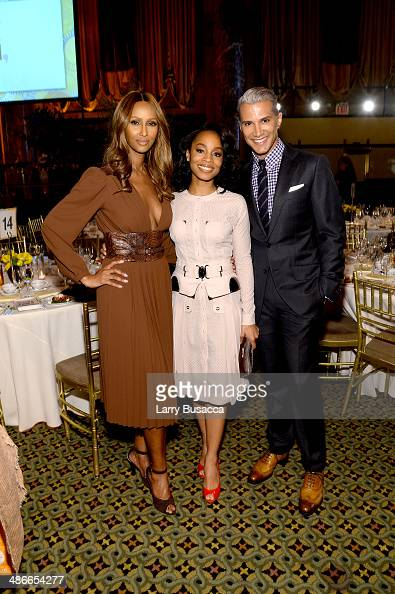 Iman Anika Noni Rose and Jay Manuel attend Variety Power Of Women New York presented by FYI at Cipriani 42nd Street on April 25 2014 in New York City