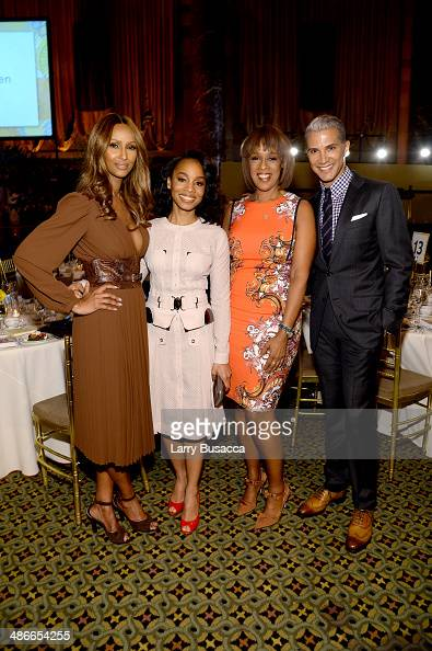 Iman Anika Noni Rose Gayle King and Jay Manuel attend Variety Power Of Women New York presented by FYI at Cipriani 42nd Street on April 25 2014 in...