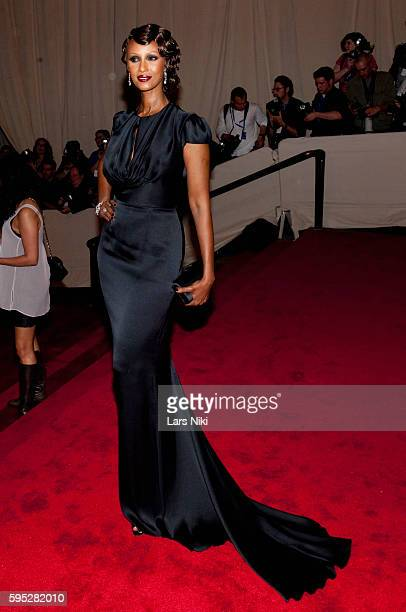 Iman attends 'American Woman Fashioning A National Identity' Costume Institute Gala at The Metropolitan Museum of Art in New York City